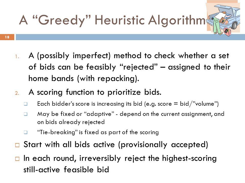 A Greedy Heuristic Algorithm 1.