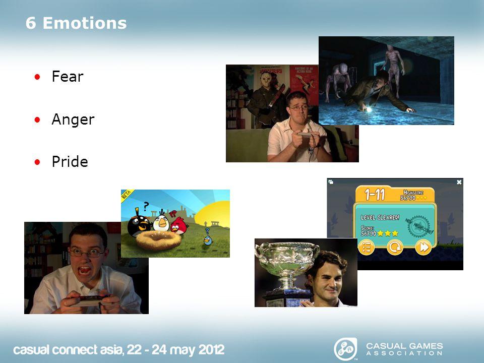6 Emotions Sadness Excitement Joy