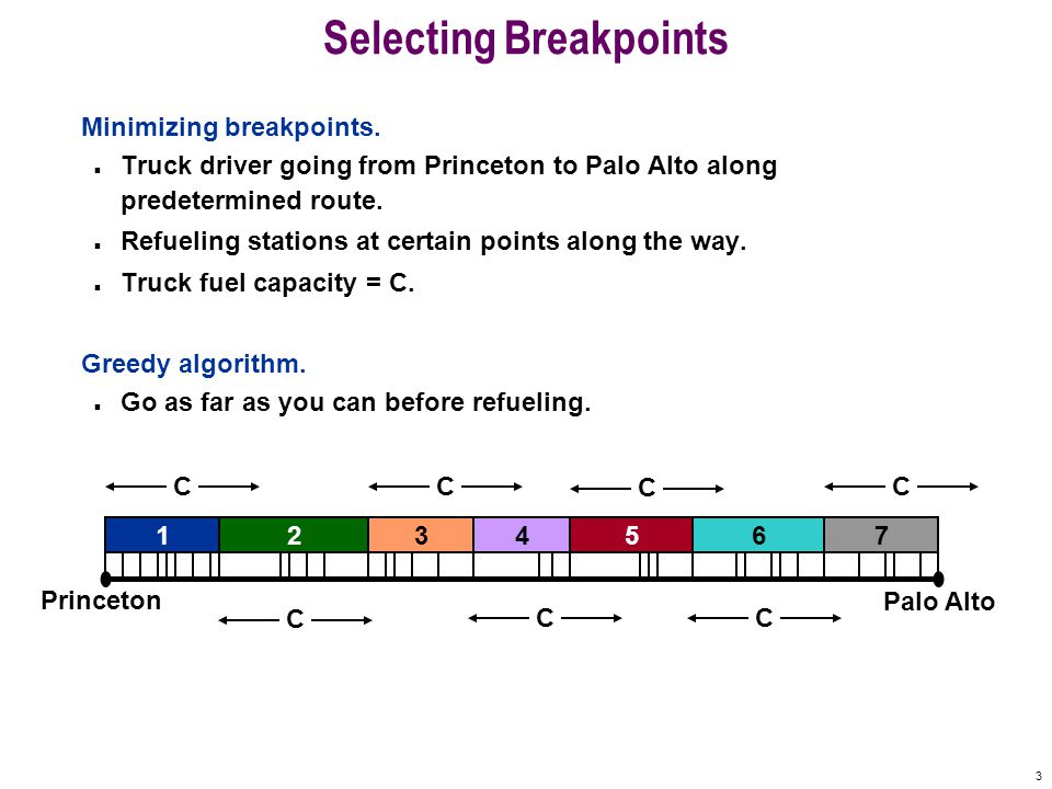 3 Selecting Breakpoints Minimizing breakpoints.