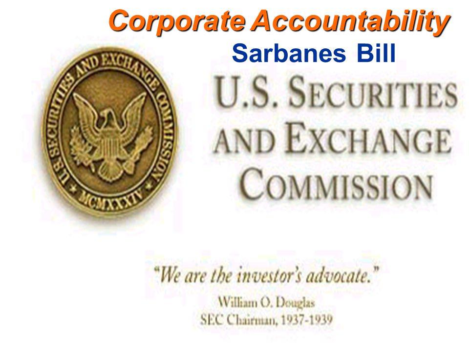 Corporate Accountability Sarbanes Bill
