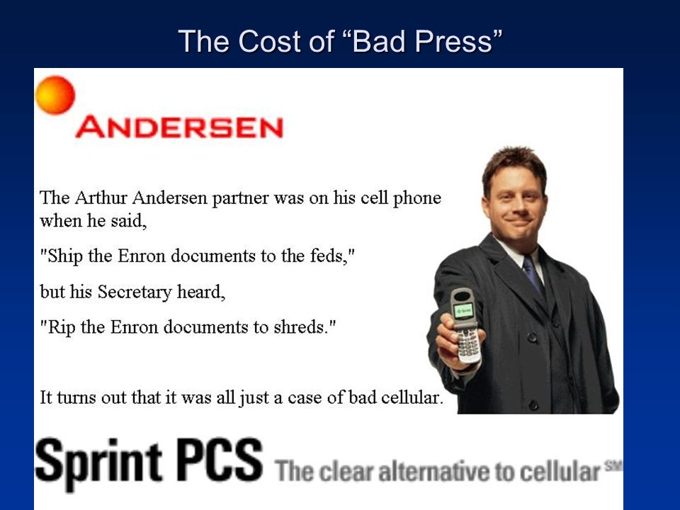 """The Cost of """"Bad Press"""""""