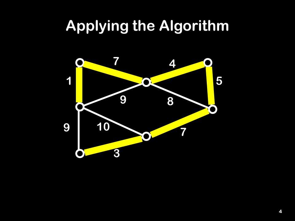 4 1 8 7 9 10 3 5 4 7 9 Applying the Algorithm