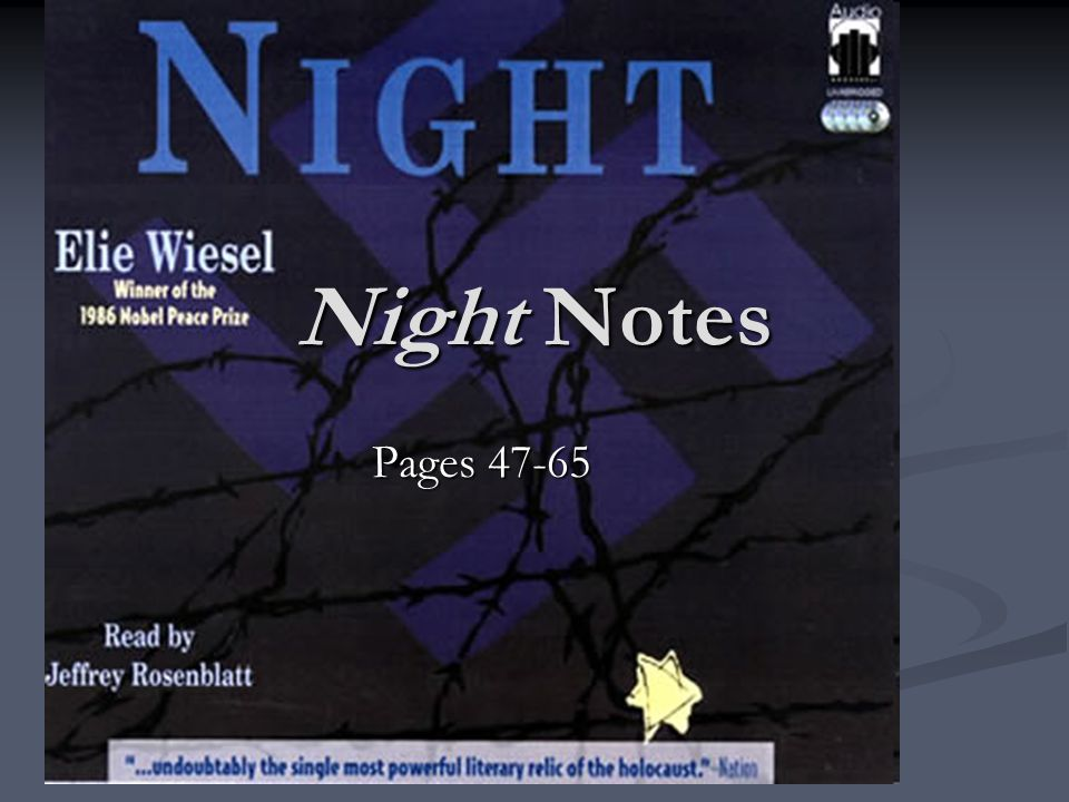 Night Notes Pages 47-65