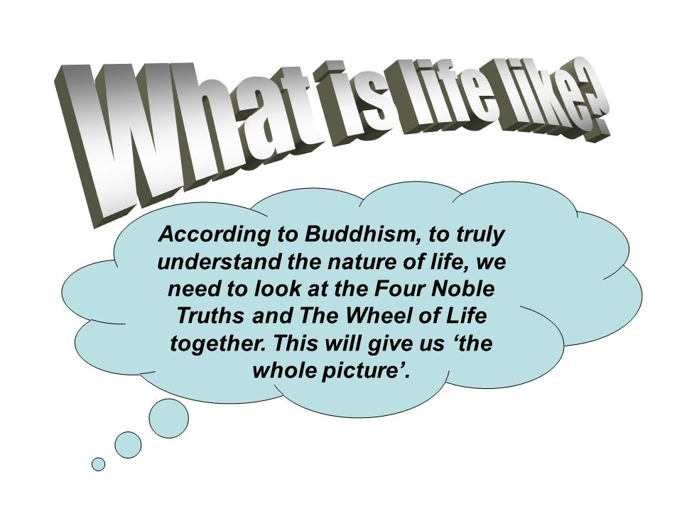 According to Buddhism, to truly understand the nature of life, we need to look at the Four Noble Truths and The Wheel of Life together. This will give