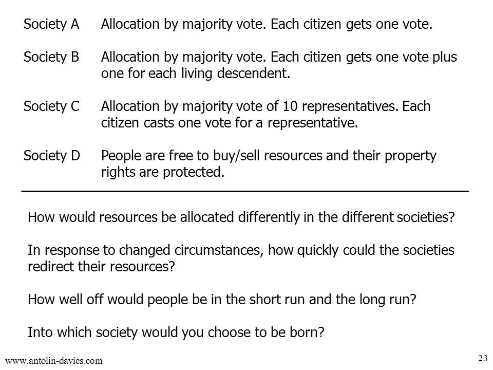 www.antolin-davies.com 23 Society AAllocation by majority vote.