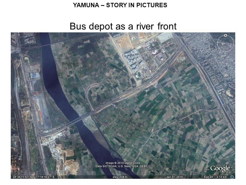 Bus depot as a river front