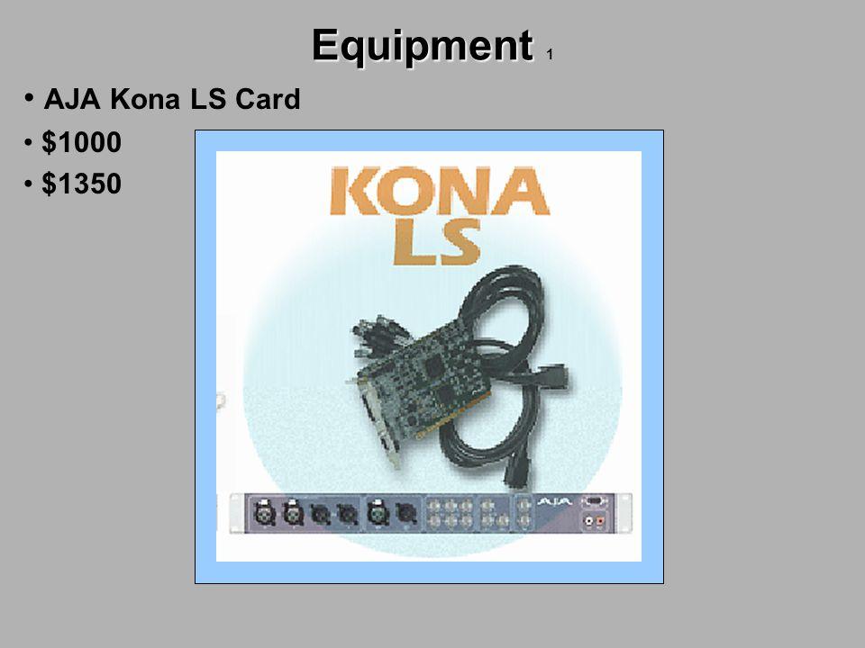 Equipment Equipment 1 AJA Kona LS Card $1000 $1350