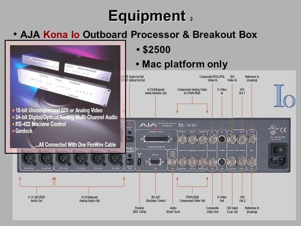 Equipment Equipment 2 AJA Kona Io Outboard Processor & Breakout Box $2500 Mac platform only