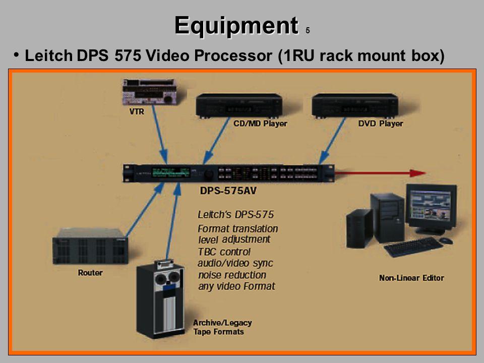 Equipment Equipment 5 Leitch DPS 575 Video Processor (1RU rack mount box)
