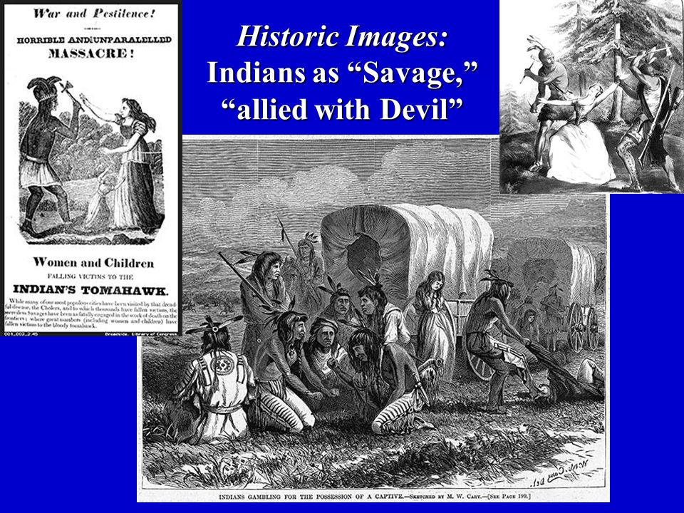 Historic Images: Indians as Savage, allied with Devil