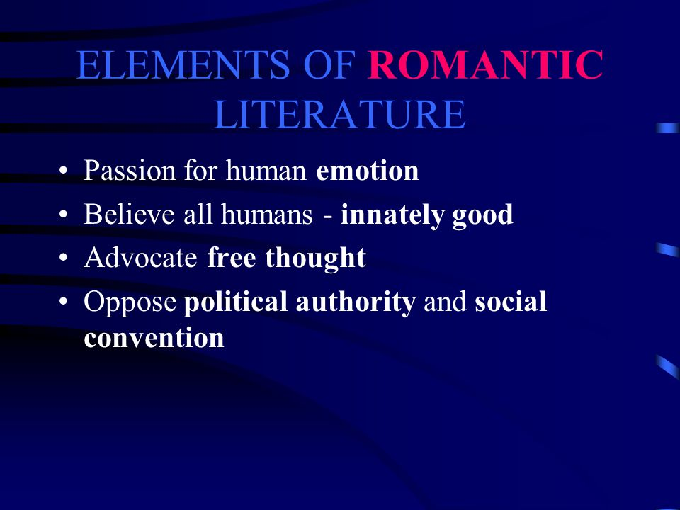 ELEMENTS TO CONSIDER Elements of Romantic Literature (Time period) Elements of Gothic Literature (genre) Elements of Science Fiction (genre) Elements of Frankenstein (unique to the piece)