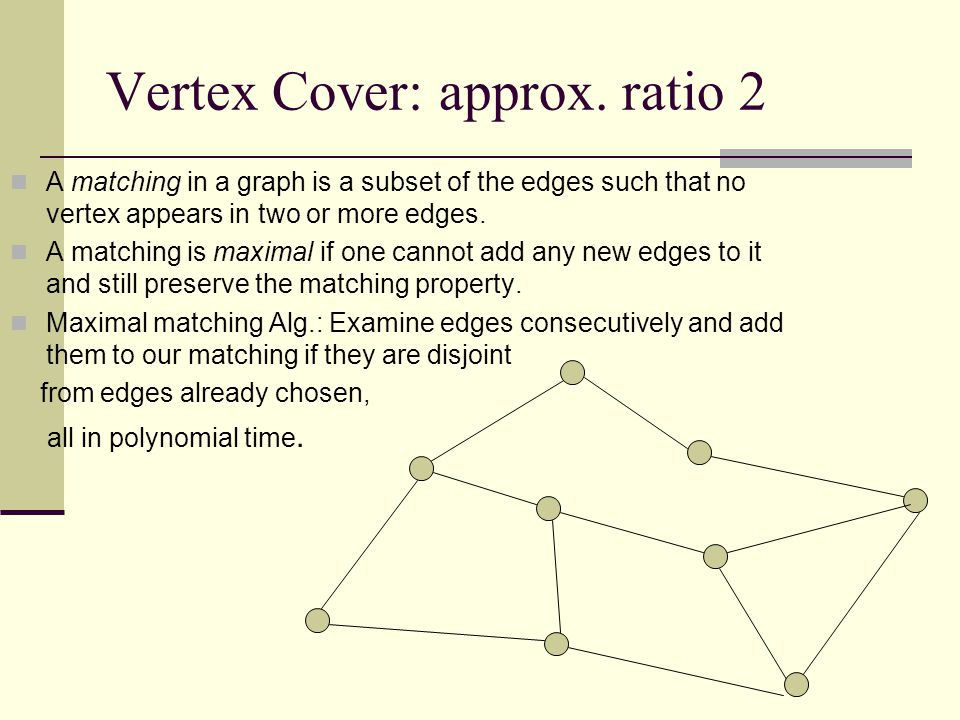 Vertex Cover: approx.