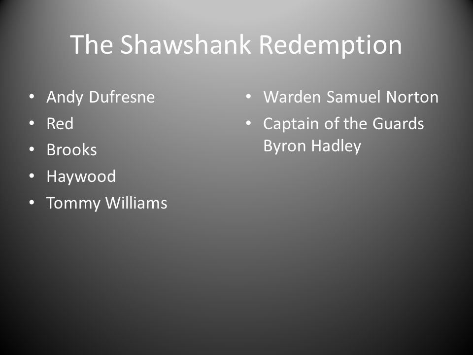 Shawshank paper Select two scenes from the movie and connect them to Biblical scenes and include a quote from the Bible for each example Your 3 rd paragraph should be a powerful conclusion about the shawshank redemption and its message!.