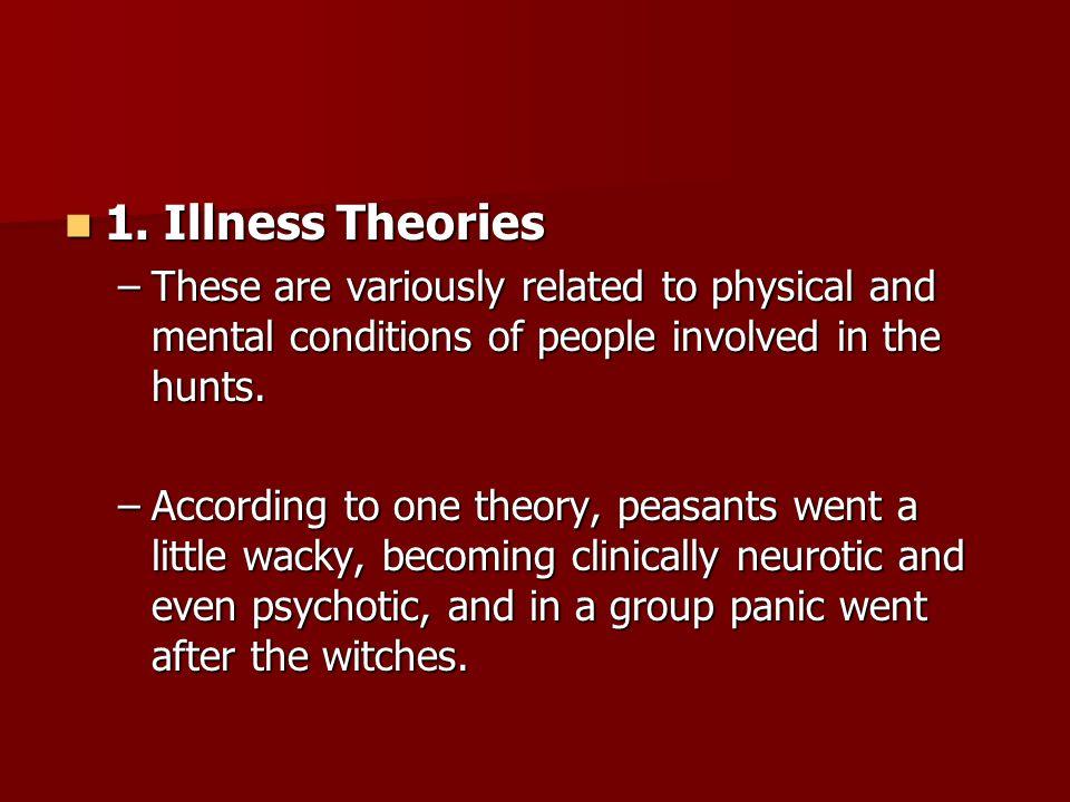 1. Illness Theories 1.