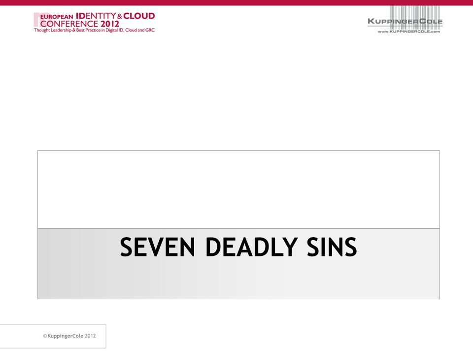 Seven Capital Vices Used by the Christian church to teach the origin of sin.