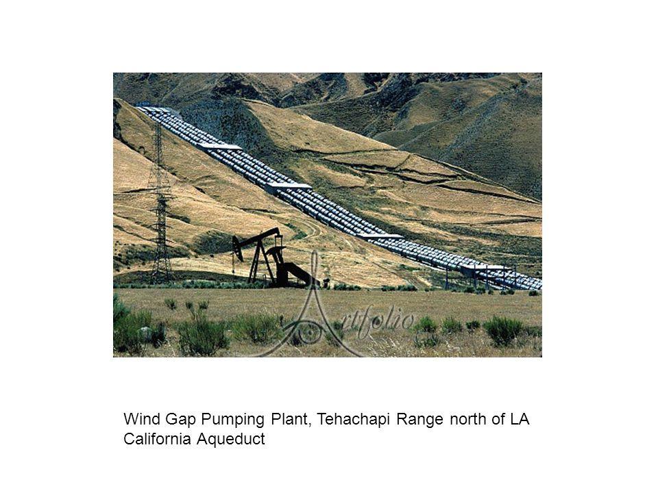 Wind Gap Pumping Plant, Tehachapi Range north of LA California Aqueduct