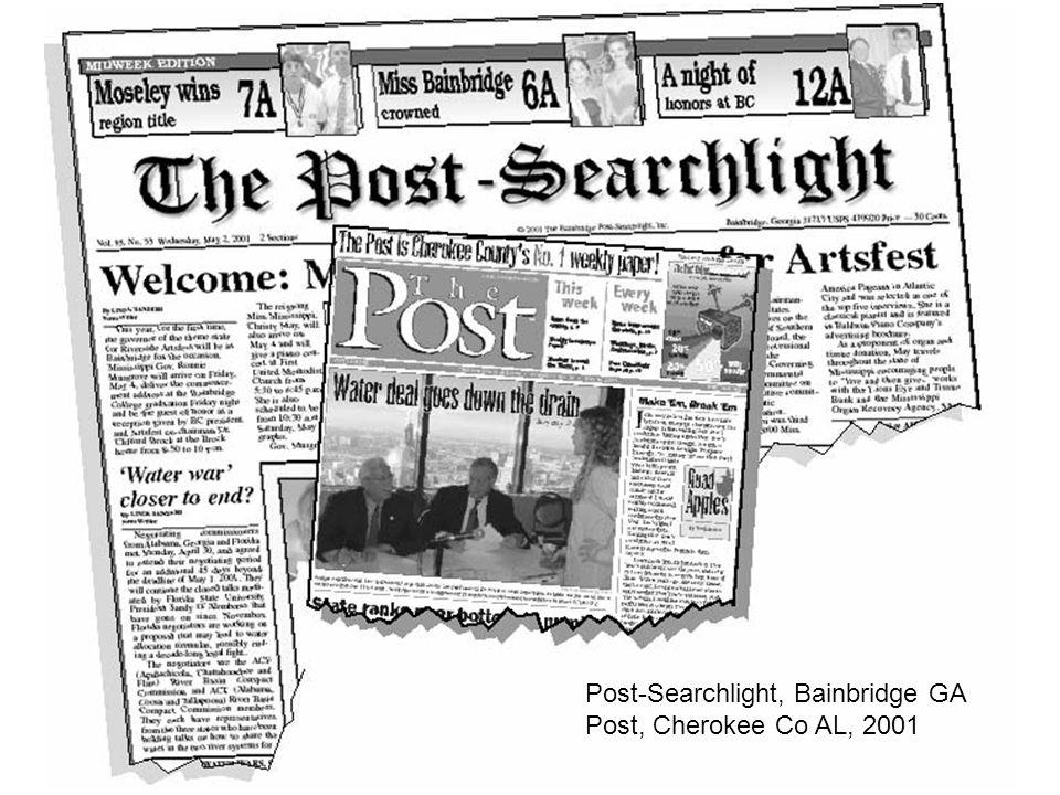 Post-Searchlight, Bainbridge GA Post, Cherokee Co AL, 2001