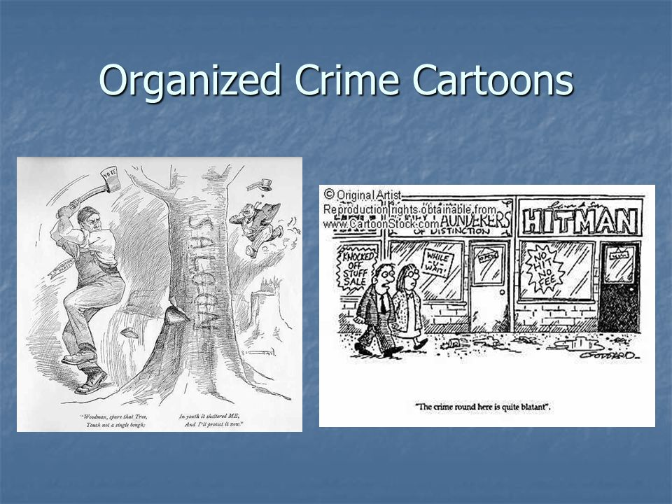 Organized Crime Cartoons