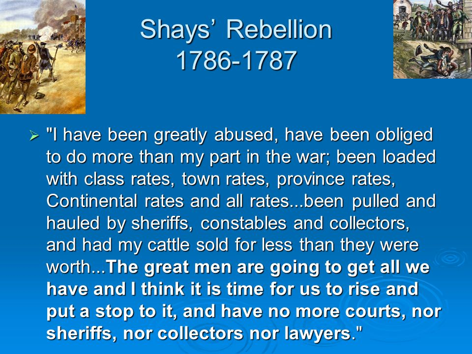 Shays' Rebellion 1786-1787 