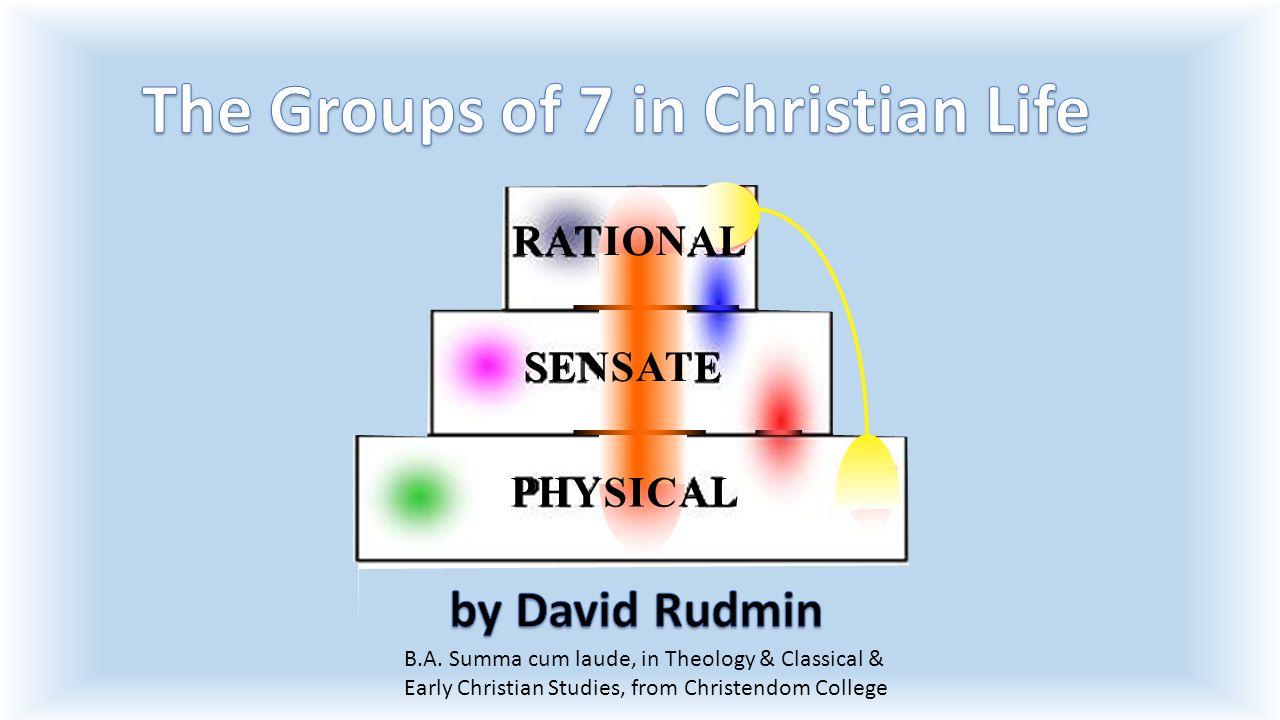 B.A. Summa cum laude, in Theology & Classical & Early Christian Studies, from Christendom College RATIONAL SENSATE PHYSICAL