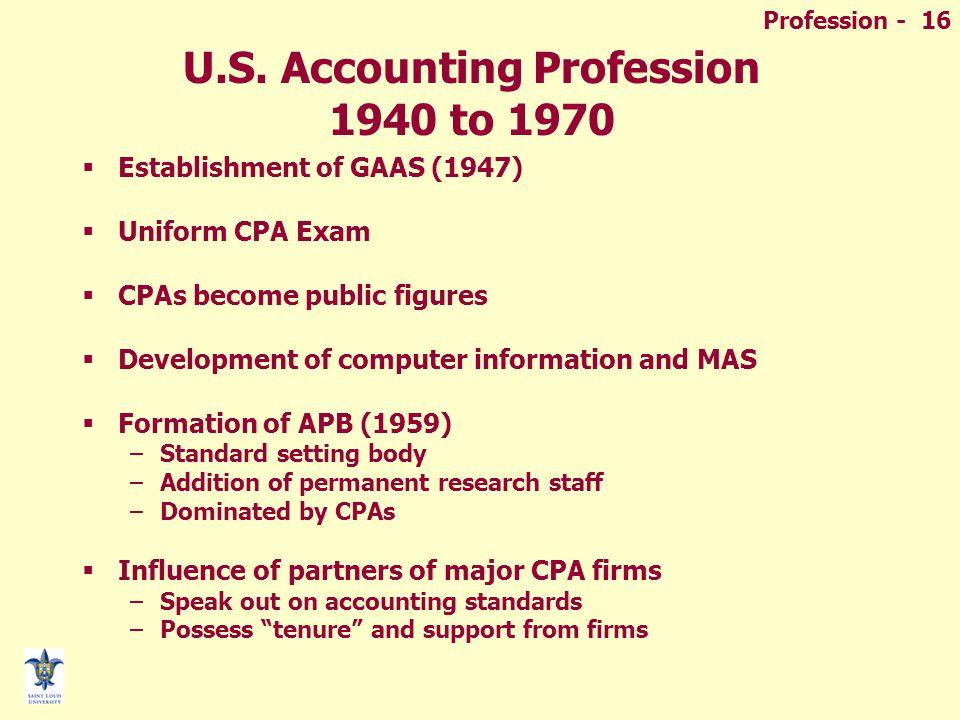 Profession - 16 U.S.