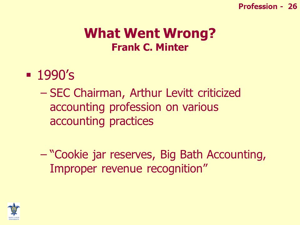 Profession - 26 What Went Wrong. Frank C.