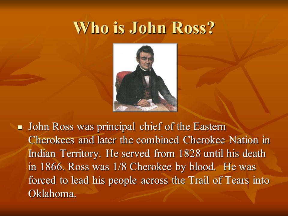 Who is John Ross.
