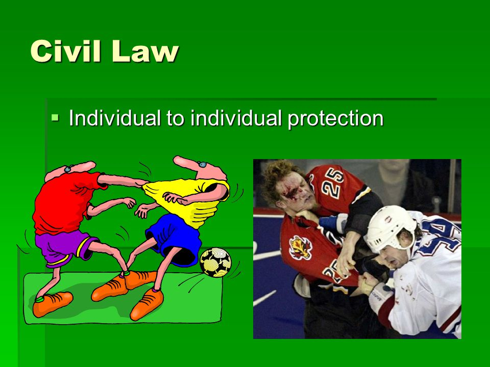 Civil Law  Individual to individual protection