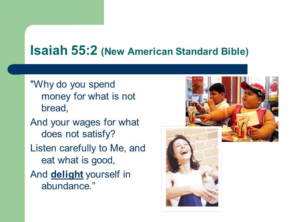Isaiah 55:2 (New American Standard Bible)