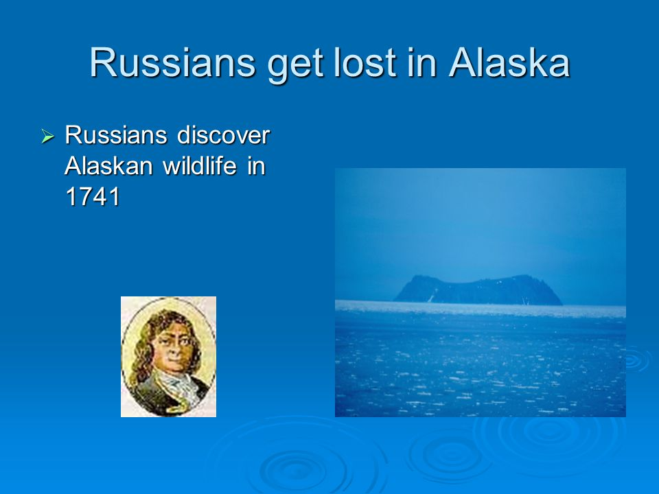 Russians get lost in Alaska  Russians discover Alaskan wildlife in 1741