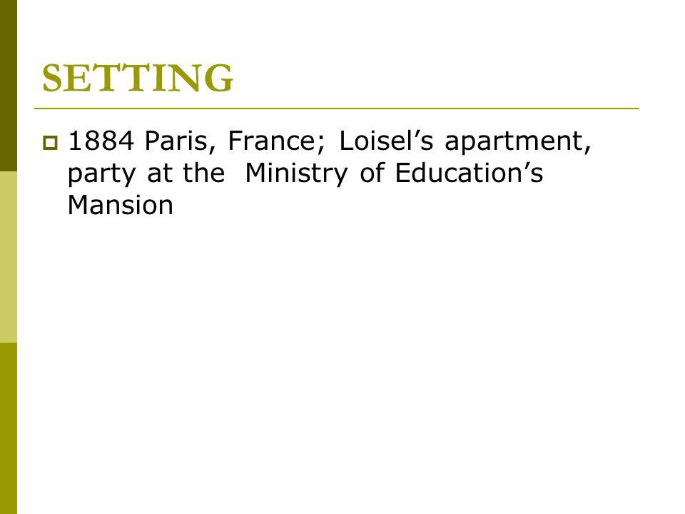 CONFLICT  Internal –  Mme.Loisel vs.