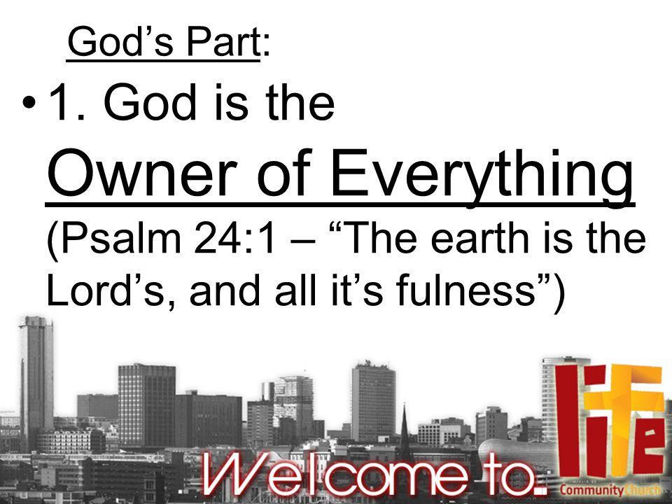 God's Part: 1.