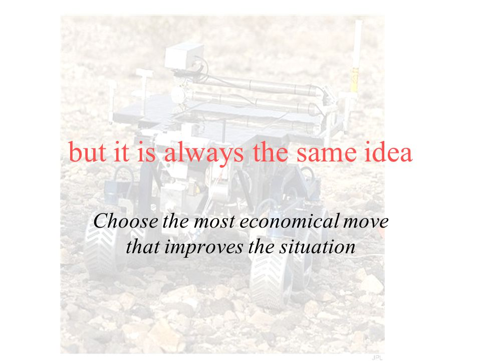but it is always the same idea Choose the most economical move that improves the situation