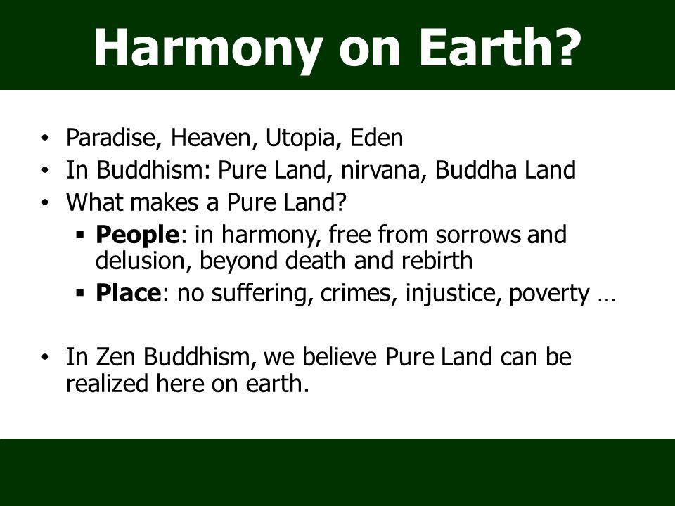 Harmony on Earth.