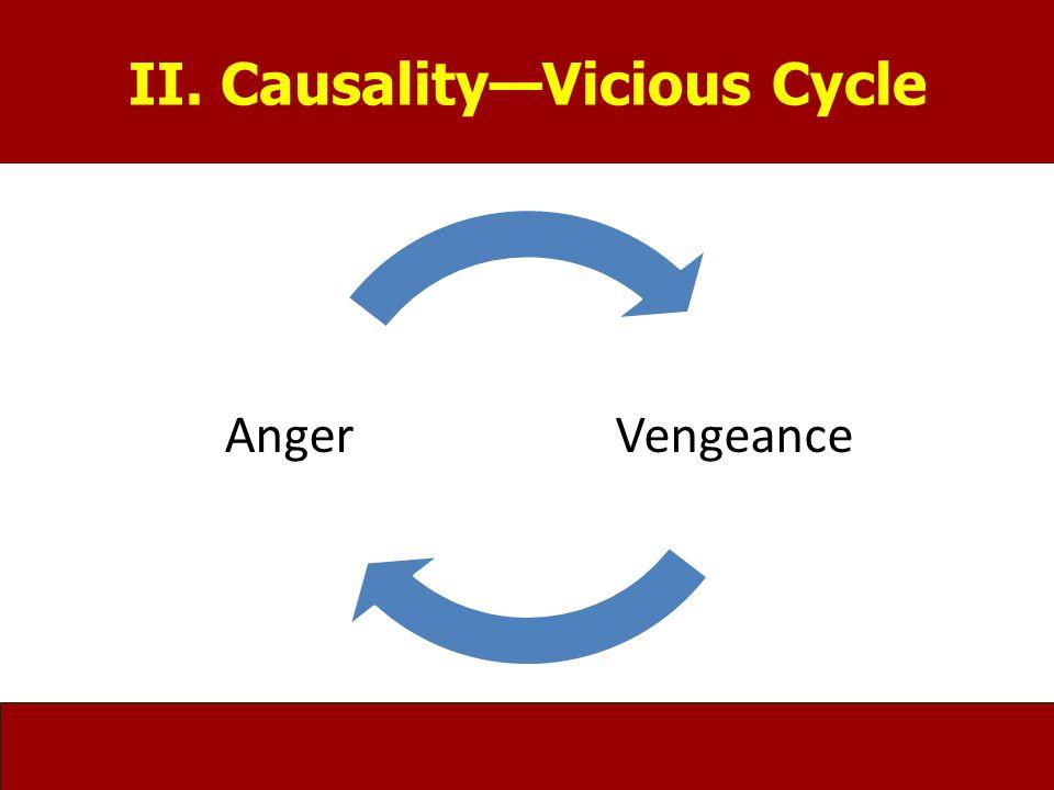 II. Causality—Vicious Cycle VengeanceAnger II. Causality—Vicious Cycle