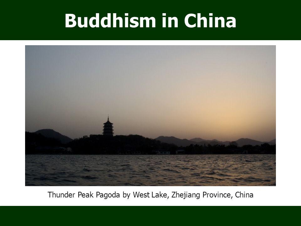 Buddhism in China Thunder Peak Pagoda by West Lake, Zhejiang Province, China