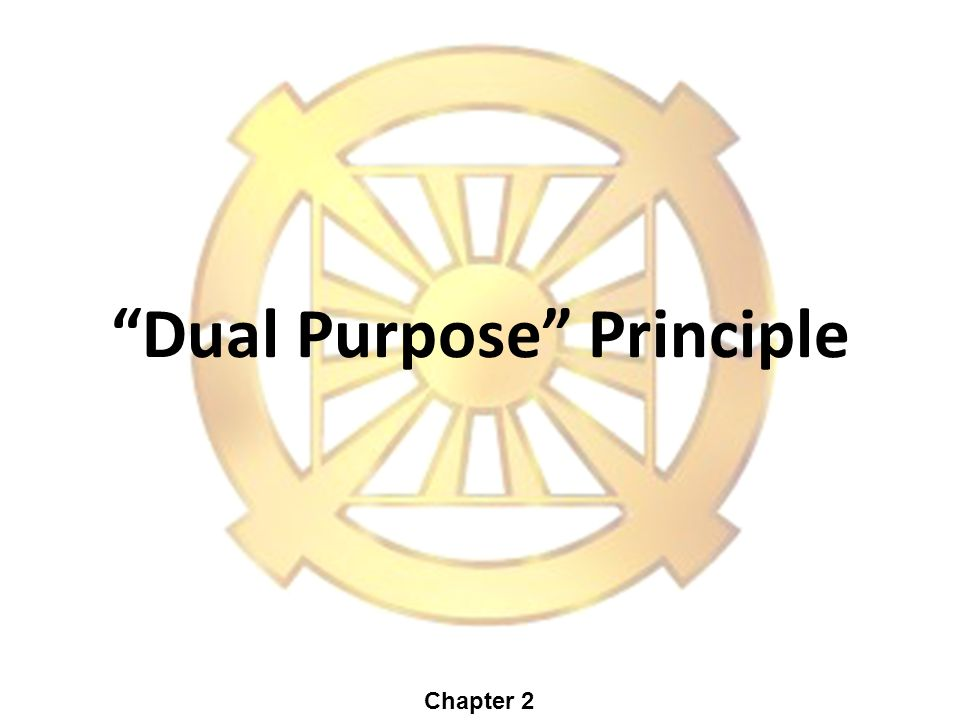 Dual Purpose Principle Chapter 2
