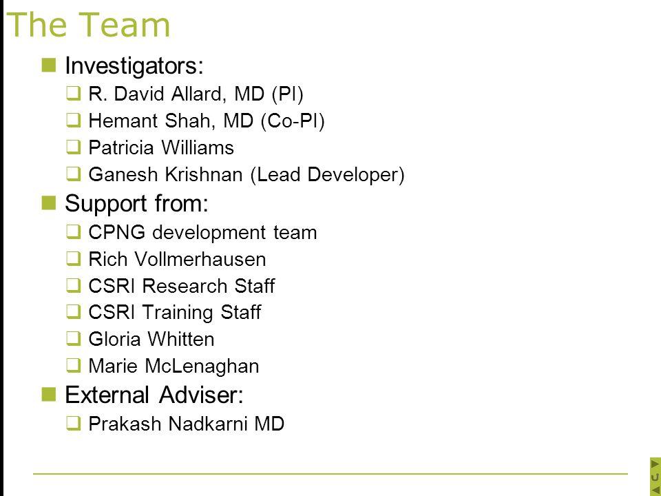 The Team Investigators:  R.