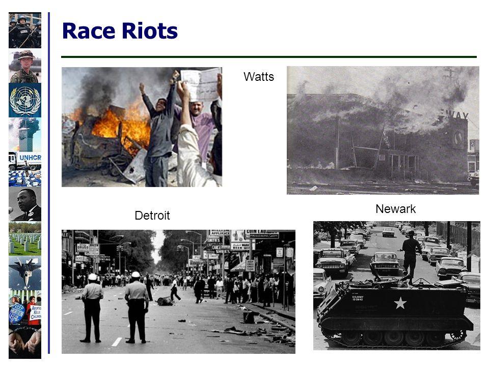 Race Riots Detroit Watts Newark