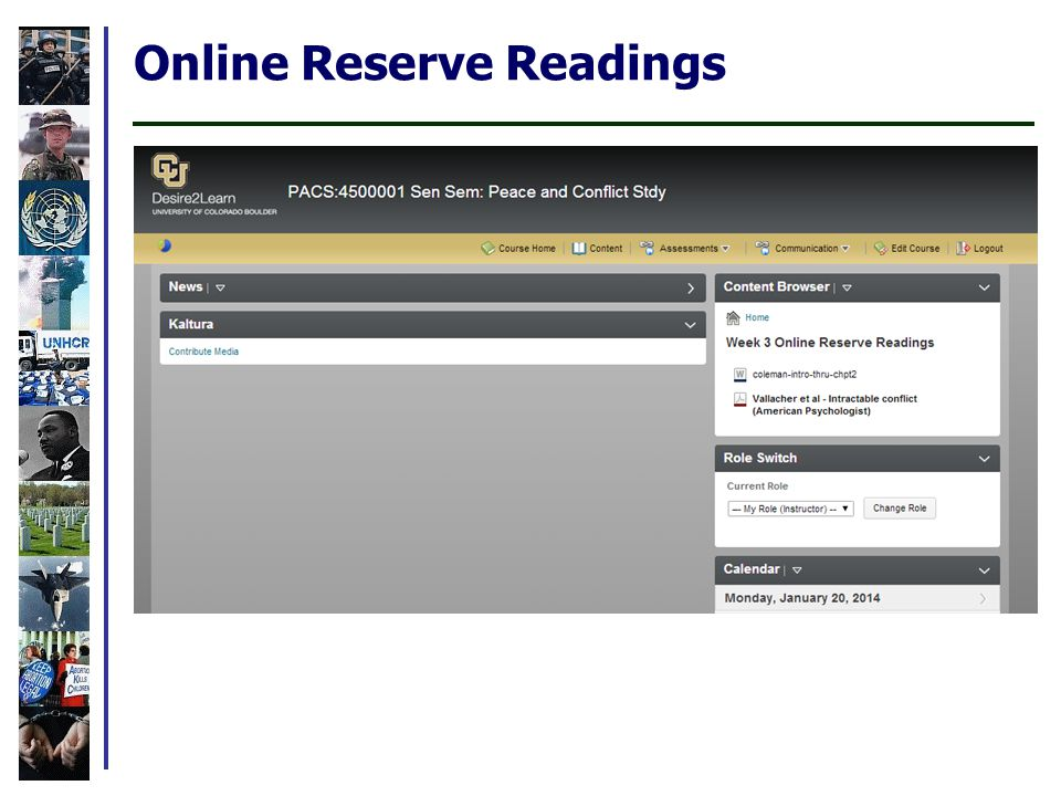 Online Reserve Readings