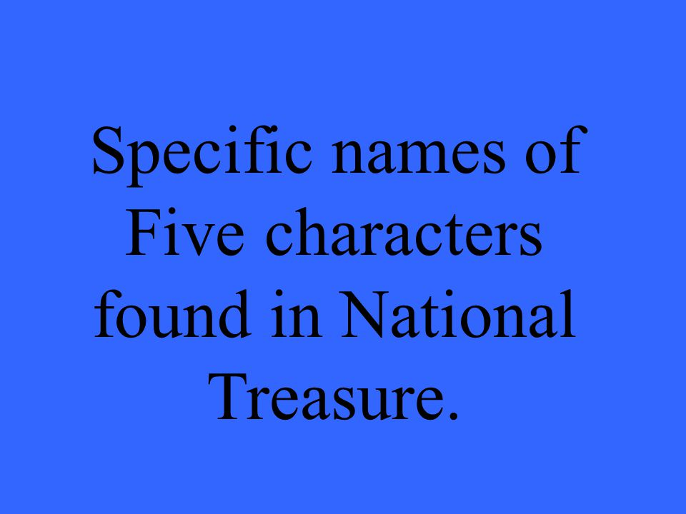 What is a static character?
