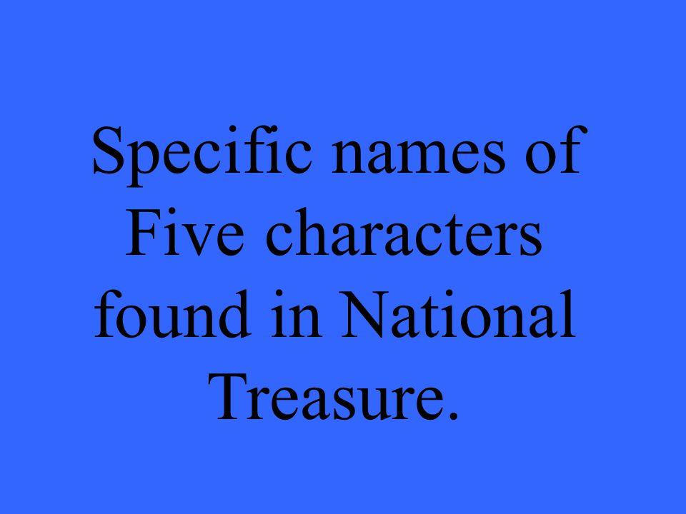Who are Ben Gates, Patrick Gates, Riley, Abigail Chase, Ian Howe, Viktor, Shaw, & Peter Sadusky?