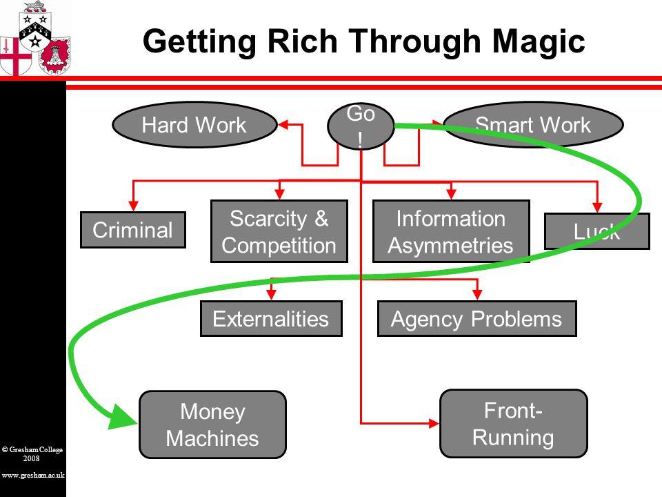 www.gresham.ac.uk © Gresham College 2008 Getting Rich Through Magic Go .
