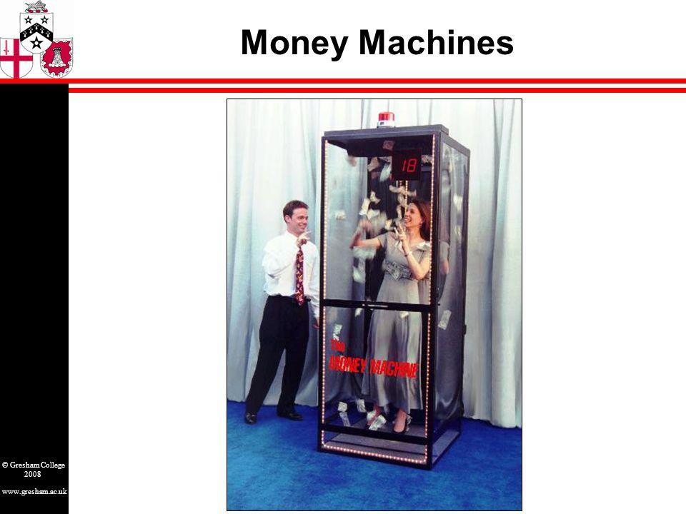 www.gresham.ac.uk © Gresham College 2008 Money Machines