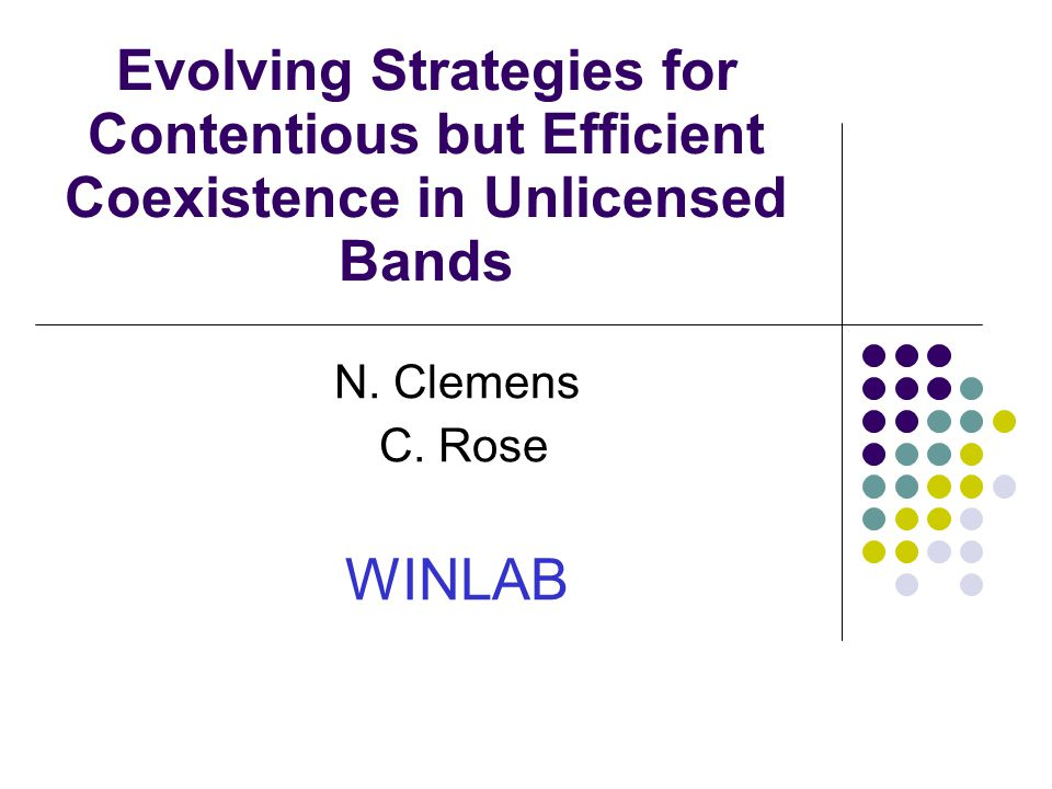 Evolving Strategies for Contentious but Efficient Coexistence in Unlicensed Bands N.