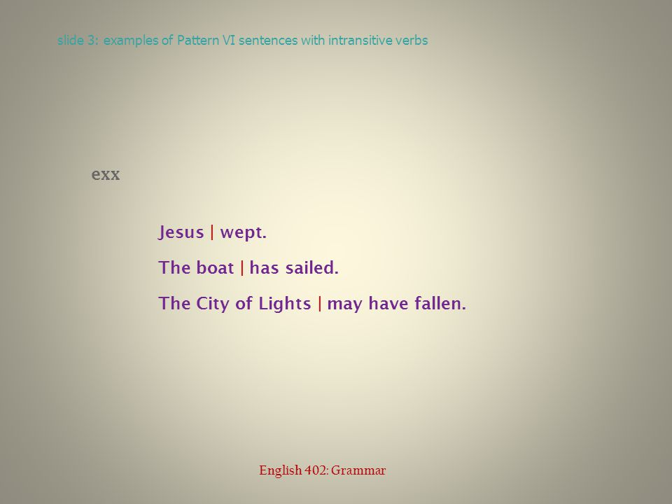 exx Jesus | wept. The boat | has sailed. The City of Lights | may have fallen.
