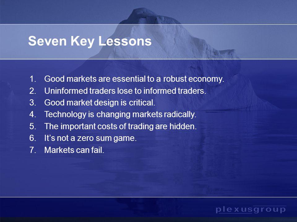 3.Good Market Design is Critical.