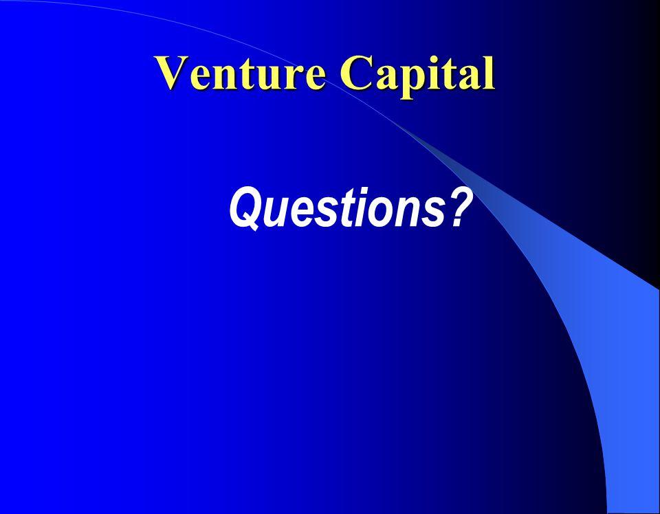 Venture Capital Questions