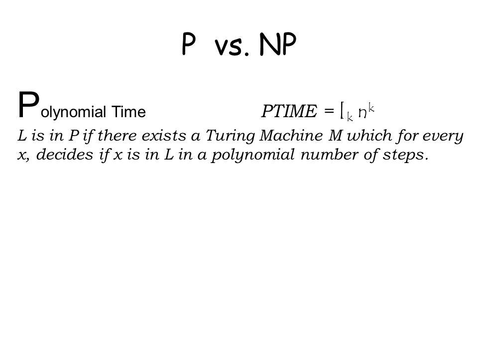 P vs.