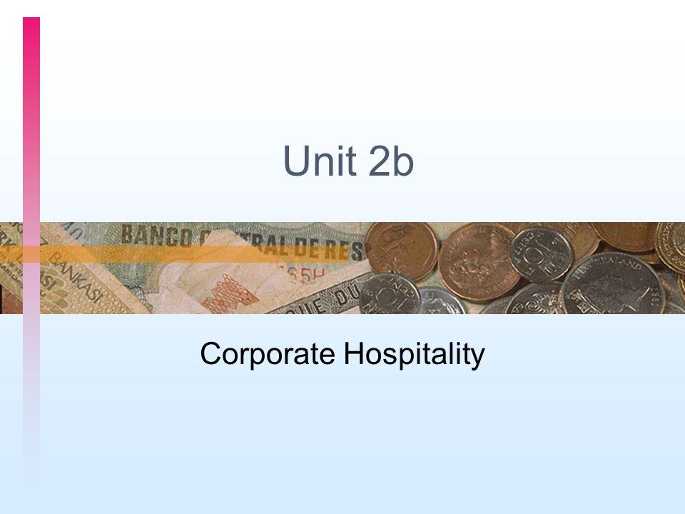 Unit 2b Corporate Hospitality